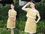 Linh Nga quý phái với thời trang Chic&Trendy;.